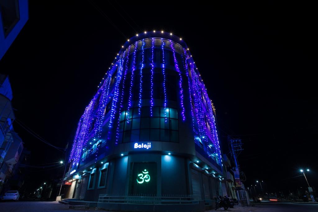 Hotel Balaji Palace Night Front View